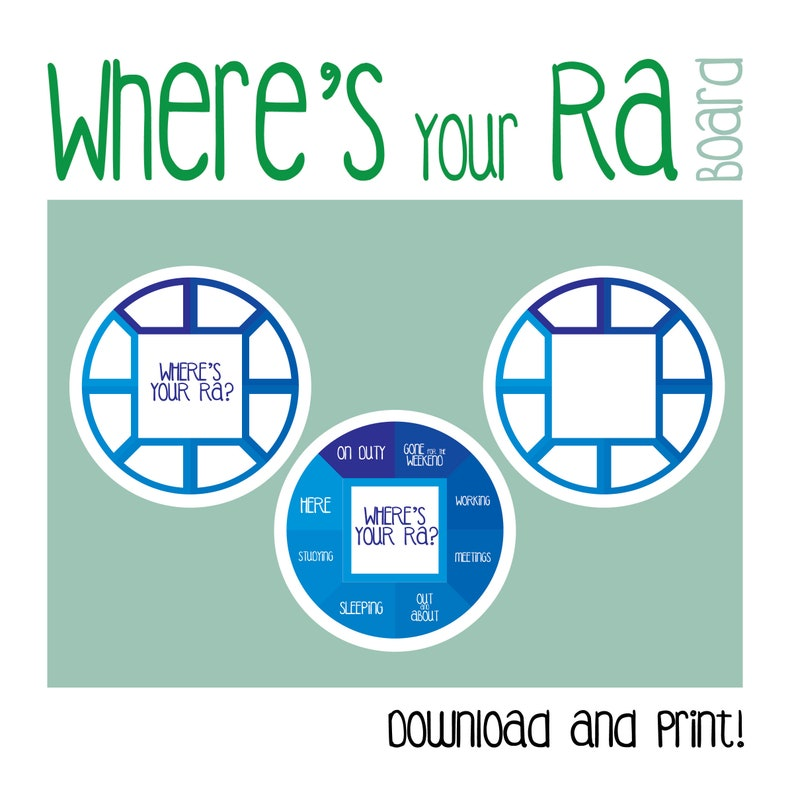 photograph about Printable Door Decs titled RA Board/ In which am I? / Wheres your RA /Printable / Doorway Dec / RA /Resident Assistant / Household Lifetime / R A / R.A.