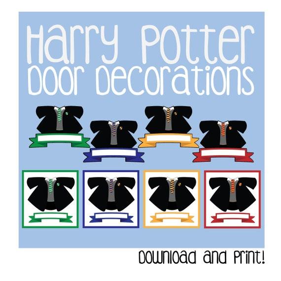 Harry Potter Door Decoration Printable Gryffindor