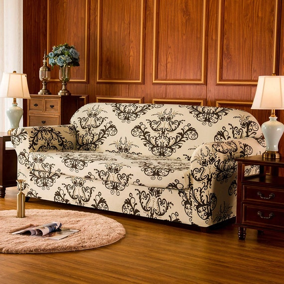 Fantastic Subrtex 2 Piece Loveseat Slipcovers Stretch Couch Covers For Sofa Spandex Printed Furniture Protector Home Decor Loveseat Unemploymentrelief Wooden Chair Designs For Living Room Unemploymentrelieforg