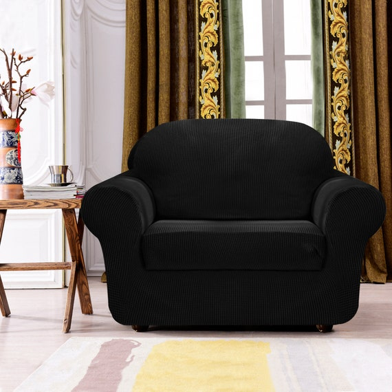 Tremendous Subrtex 2 Piece Jacquard High Stretch Armchair Slipcover For Sofa Spandex Washable 1 Seater Cushion Couch Sofa Cover Coat Bralicious Painted Fabric Chair Ideas Braliciousco