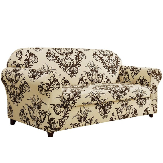 Stupendous Subrtex 2 Piece Loveseat Slipcovers Stretch Couch Covers For Sofa Spandex Printed Furniture Protector Home Decor Loveseat Dailytribune Chair Design For Home Dailytribuneorg