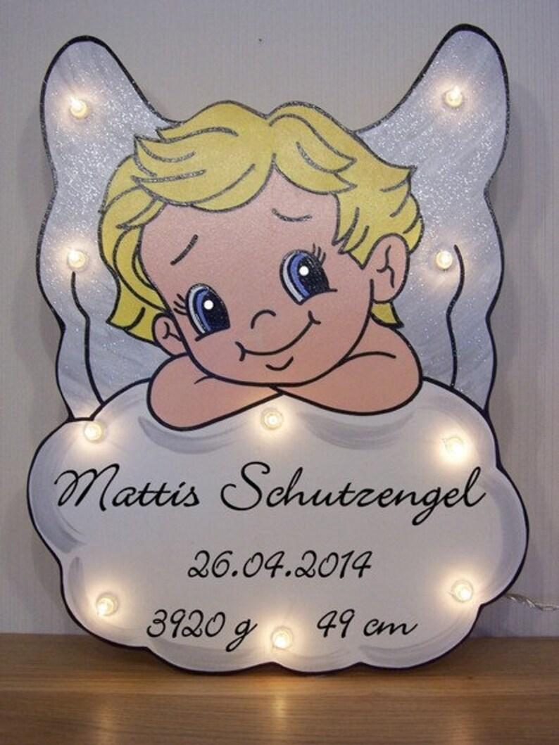 Teddy Schlaflicht Nachtlicht Name Schlummerlicht Wandbild LED Geschenk Taufe