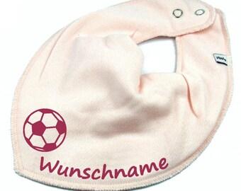 70e5c660ac78eb HALSTUCH Fußball mit Namen Baby Kind in rosa