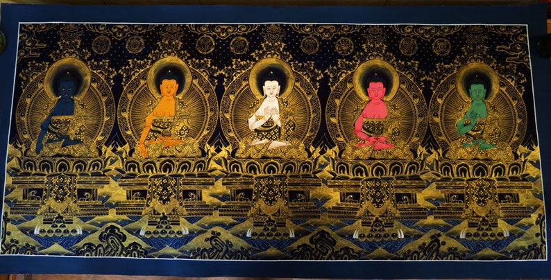 Tibetan Buddhism Unique 5 Dhyani Buddha Pancha Buddha 18