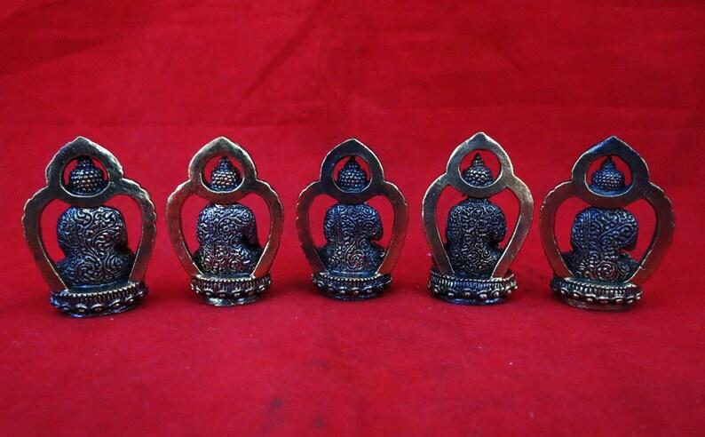5 Dhyani Buddha (Pancha Buddha) 42 mm Brass Small Statue Handmade Nepal free