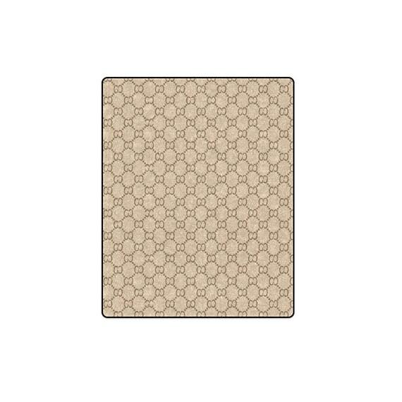 Luxe Luxe Luxe marron beige motif personnalisé fait par Sublimation couverture en Polar 243899