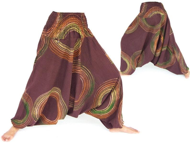 Harem pants women men Black Wide Leg Pants Boho Hippie Pants Aladdin Pants