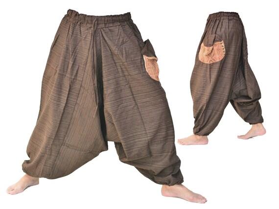 Black Harem pants women men Wide Leg Pants Boho Hippie Pants Aladdin Pants