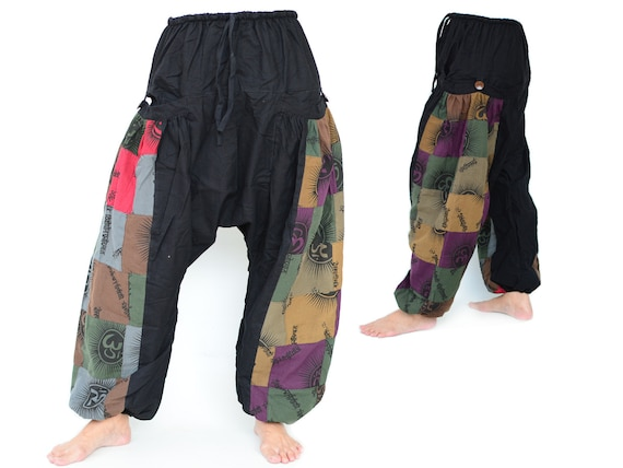 Pantalones Harem Mujer Hombre Etsy