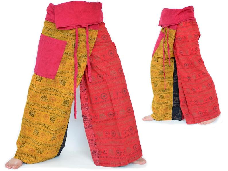 Thai Fishermen Pants men women plus size Thai Fisher Pants Wrap Pants Hippie Pants