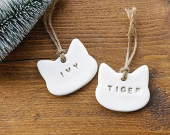 Personalised Cat Name Tag   Treat Decoration   Personalised Hanging Decoration   Personalised Gift   Name Tag