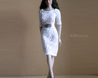 95edf983e29 1/6 scale lace dress without closure for Phicen/TBLeague, Hot Toys and  other collectible poseable female bodies