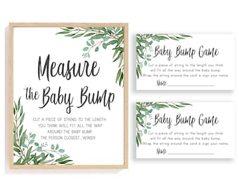 How Big is Mommys Belly Game Sign Lumberjack Baby Shower Games Instant Download Mommys Bump Size Game Rustic Baby Shower Woodland Forest BBL