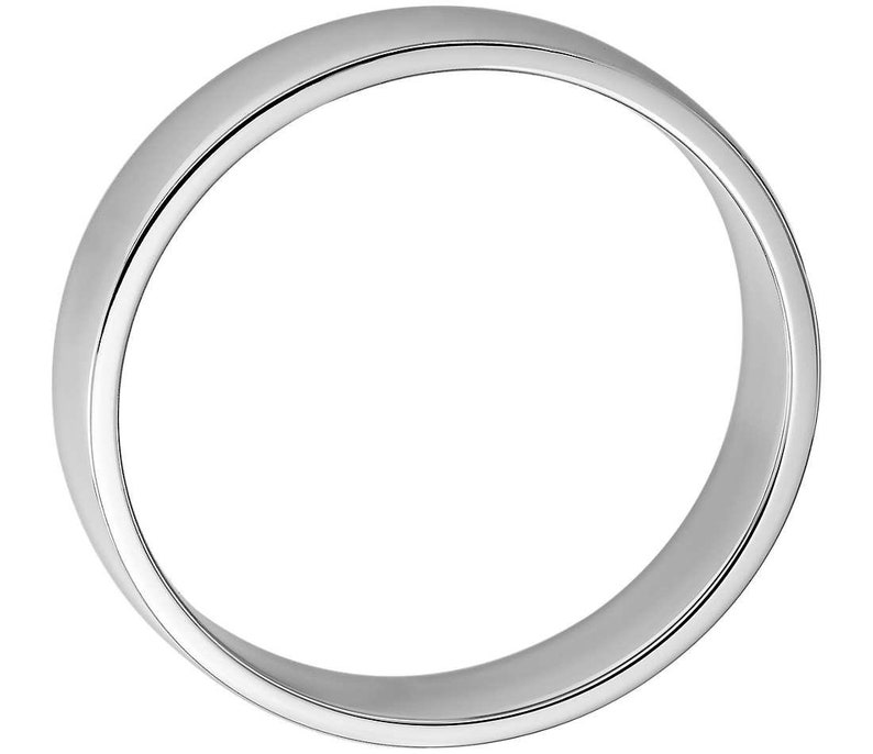Karat Unisex 4mm ATK Jewelry  Comfort Fit 14K White Gold Wedding Band 14K
