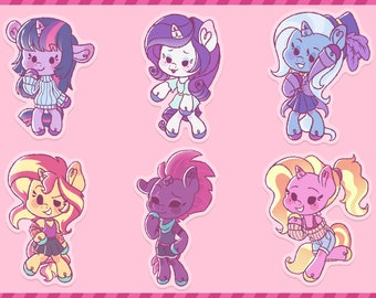 My Little Pony | Fashion Chibis | Acrylic Charms/Keychains