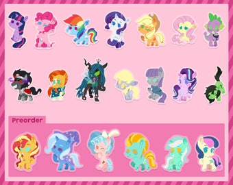 My Little Pony | Mane 6 | Cheebs | Acrylic Charms/Keychains