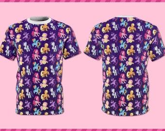 My Little Pony | Mane 6 Silhouette Pattern | All Over Full Print Shirt