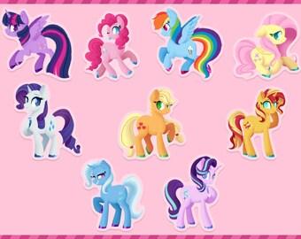 My Little Pony | Mane 6 | Acrylic Charms/Keychains