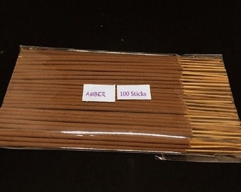 "Traditional Incense Sticks 10 Nos Amber based Fragrance  8/""//4.5/"""