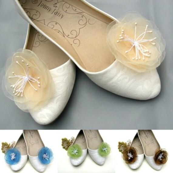 handicrafts Shoe clips various colors flowers
