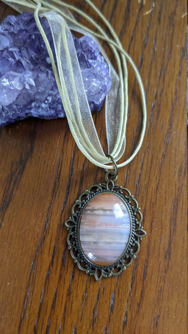Carnelian cabochon necklace