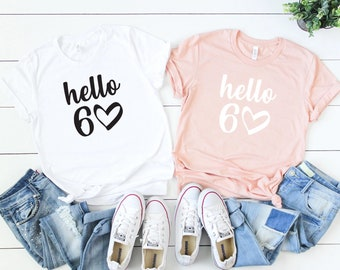 60th Gift Ideas Hello 60 Birthday Shirt Women Gifts For Mom