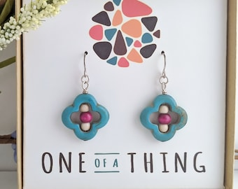 Magnesite Flower Earrings
