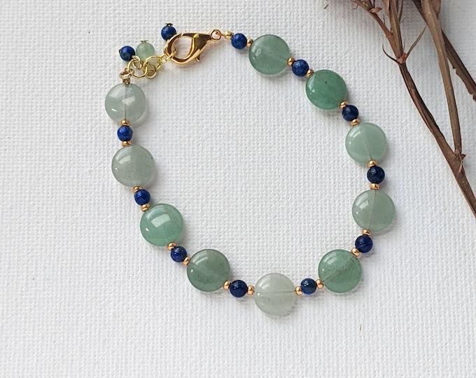 Aventurine and Lapis Lazuli Bracelet