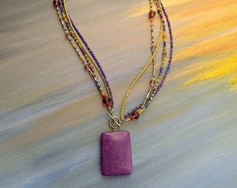 All Strands Lead to Purple Necklace