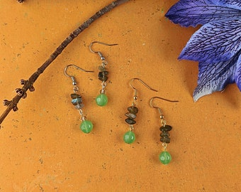 Labradorite Foam Earrings