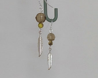 Hazy Feather Earrings