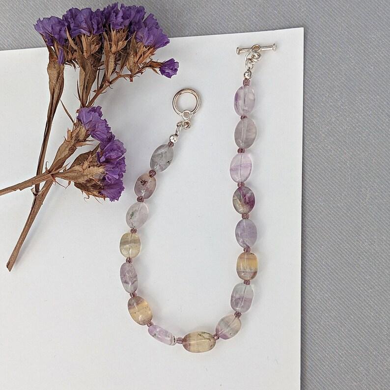 Fluorite Gemstone Bracelet image 0