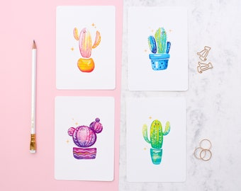 Mix & Match your own Postcard set   Cute illustrated mini print set   Create your own A6 postcard pack
