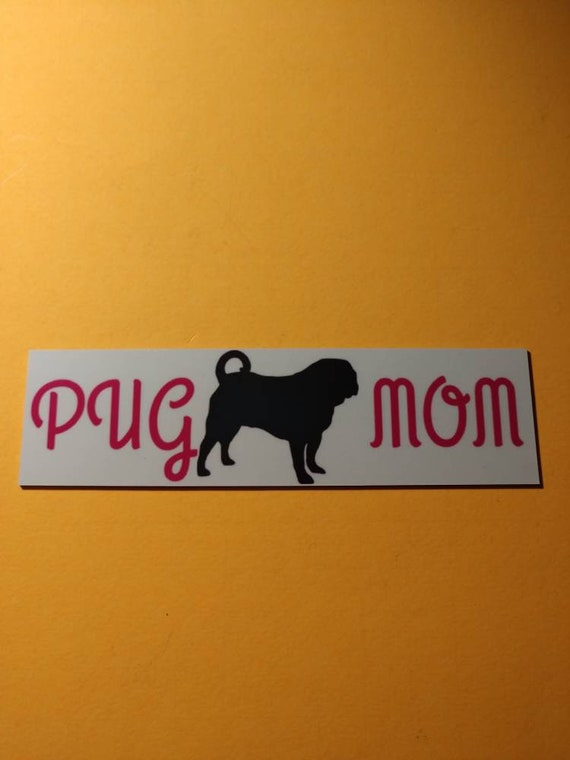 pug mom magnet | Etsy