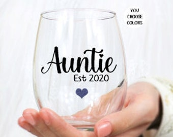 Gift for Aunt Cool Wine Aunt Im That Aunt Sorry Not Sorry Stemless Wine Glass Aunt Gift Aunt Wine Glass Birthday Gift For Aunt