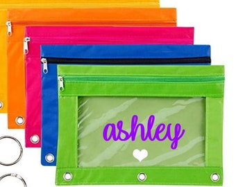 Personalized Kids Pencil Case, Large Pencil Case Personalized, Girls Pencil Case, Personalized Kids Pencil Pouch, Birthday Party Favors