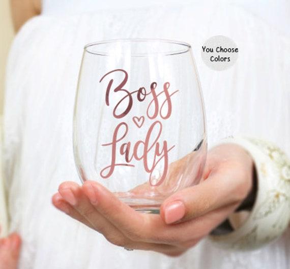 Boss Lady Wine Glass Promotion Gift for Women Gift for Boss
