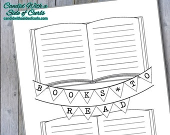 Books To Read Bullet Journal Printable Pages