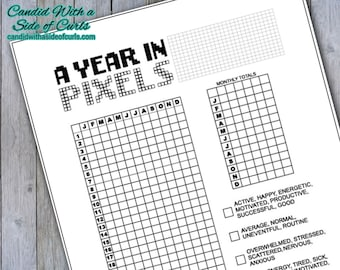 A Year In Pixels Bullet Journal-Printable Pages