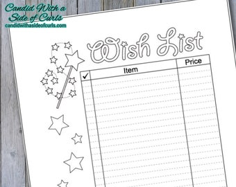 Wish List Bullet Journal Printable Pages