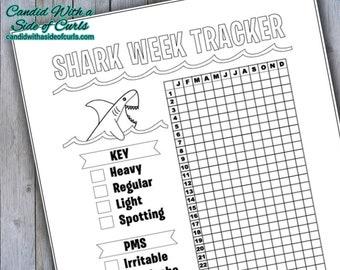 Shark Week Tracker Bullet Journal-Printable Pages