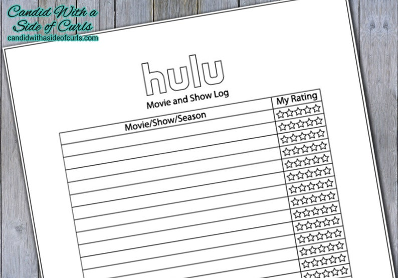 graphic relating to Bullet Journal Printable Pages referred to as Hulu Log Bullet Magazine-Printable Web pages