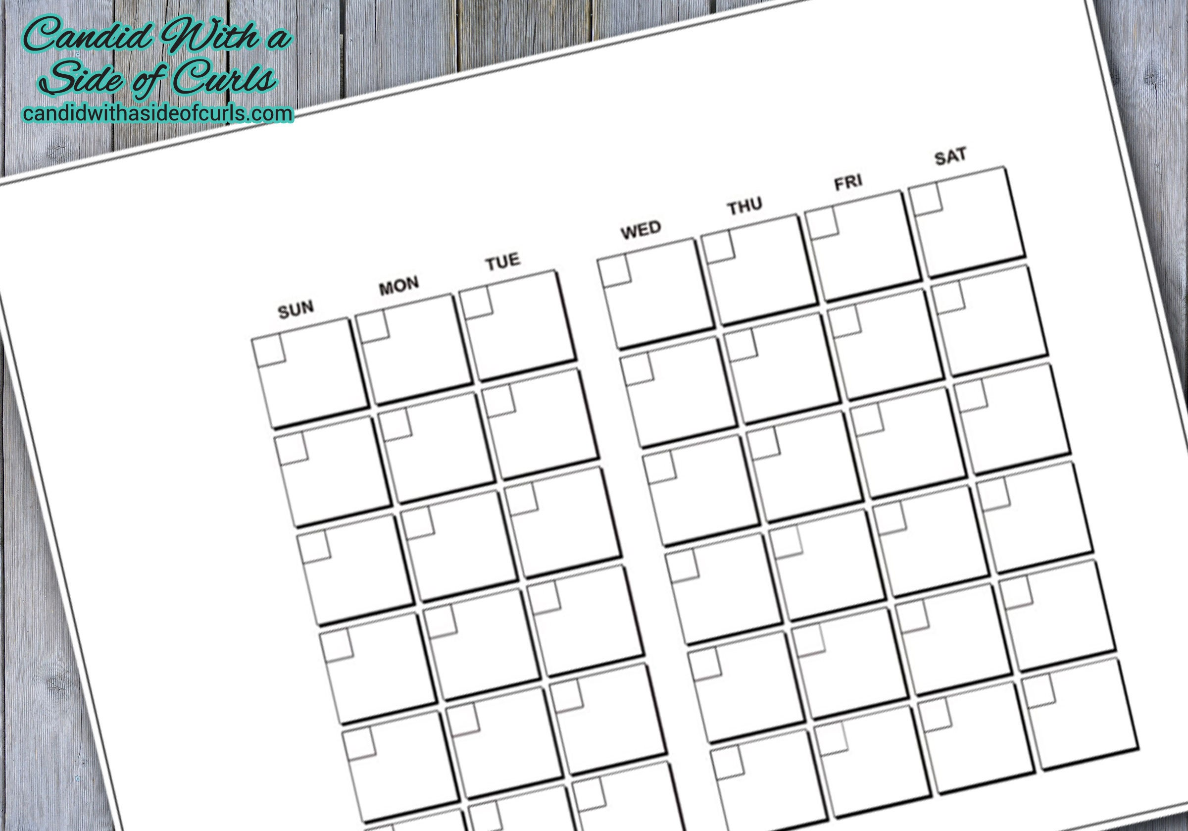 image relating to Bullet Journal Monthly Calendar Printable named Month-to-month Calendar Bullet Magazine-Printable Web pages