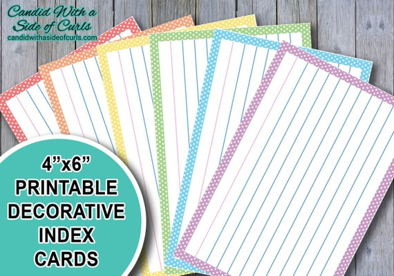 It's just a photo of Printable Index Cards 4x6 intended for flash cards
