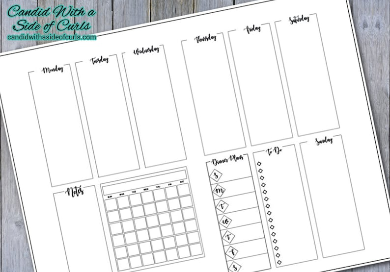 picture relating to Bullet Journal Printable Pages called Weekly Unfold #1 Bullet Magazine-Printable Web pages