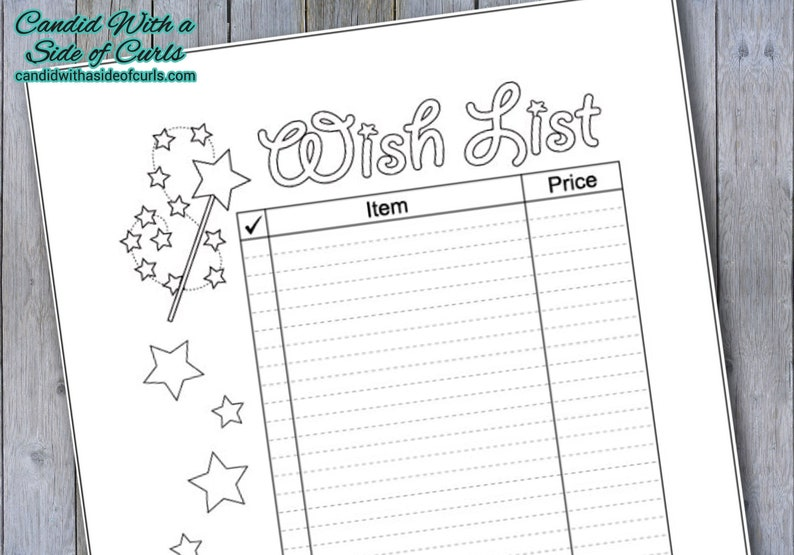 photograph regarding Printable Wish Lists referred to as Motivation Listing Bullet Magazine Printable Webpages