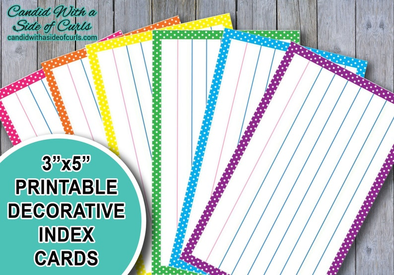 picture relating to Printable Index Cards 3x5 titled 3x5 Printable Attractive Index Playing cards