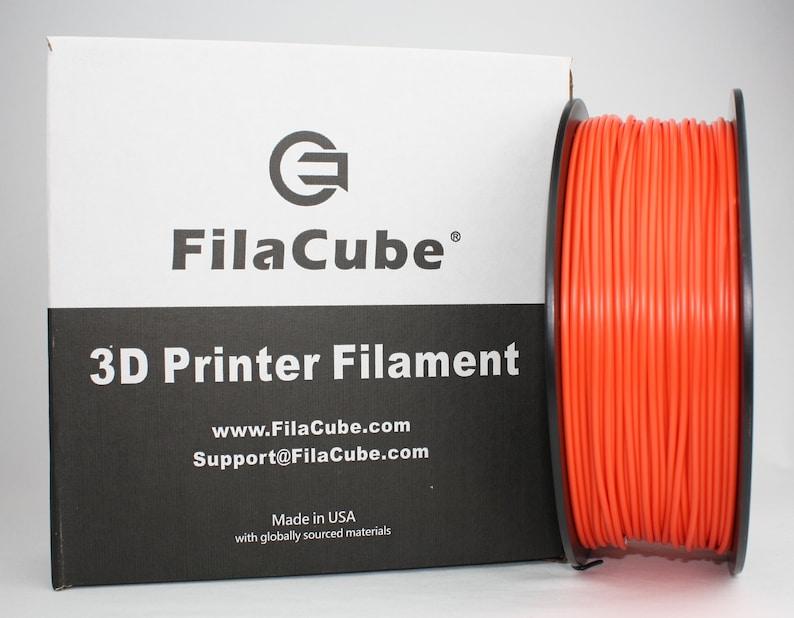 FilaCube 1.75mm Orange PLA 2 3D Printer filament 1kg 2kg 5kg spool PLA+ plus Made in USA 3kg