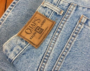 1f516d9829c Vintage Rare 90s Chaps Ralph Lauren Mom Jeans High Waisted 34
