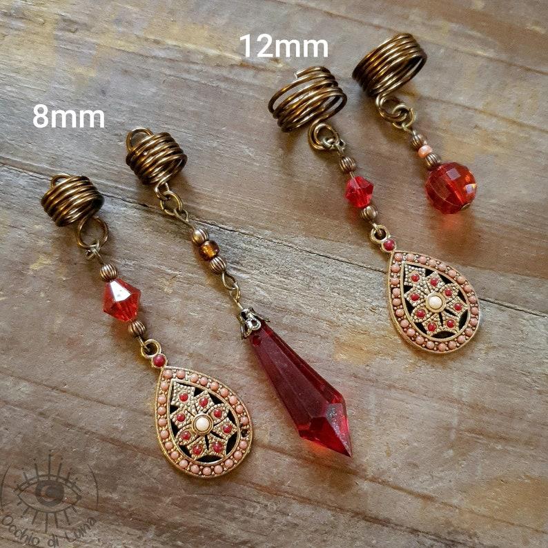 Dread Bead 8mm 12mm Dreadlock Bead Dread Jewelry Dread Pendant Hair Accessories Hair Accessories Jewelry Dreadspiral Festival Hippie Boho Gypsy